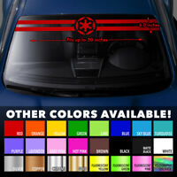 Star Wars Galactic Empire New Order Sith Windshield Banner Vinyl Decal Sticker