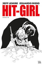 "HIT-GIRL #5 IMAGE COMICS ""KICK ASS"" COVER B B&W BLACK / WHITE RISSO"