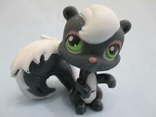 Littlest Pet Shop Grey White Skunk with Green Eyes 253 Authentic Lps