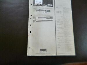 Original Service Manual Schaltplan Sansui SV-R7000
