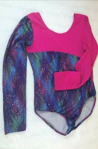 Danskin  Multicolor Long Sleeve Dance Gymnastics Leotard Girls Sz XL (14/16)T14