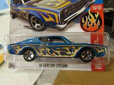Hot Wheels '69 Mercury Cyclone HW Flames Blue