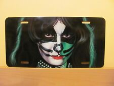 KISS - CUSTOM AIRBRUSHED AMERICAN STYLE LICENCE PLATE PETER THE CATMAN CRISS