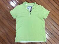 Orvis Mens Polo Shirt Short Sleeve Light Green Size S