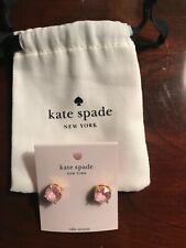 """Kate Spade Pink Enamel Gumdrop Gold Plated Stud Earrings """"NWT"""""""