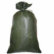Pack of 10x Yuzet Green PP Sand Bags With Ties Flood Protection Sack Sandbag