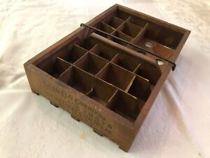 Antique Star Egg Carrier Tray Wood With Jute-Board Insert 2 Doz. Eggs