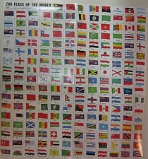 *200 Flags of The World  Stamps- 200 Stamp Set- -Lot of 2 sets