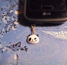 Panda Bear Gold Cell Phone Clip Charm~Dust Cover~All Phones~Free Ship