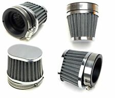 Wire Mesh Power Pod Air Filter 4 Pack 52MM Oval  Chrome Clamp-On Offset Flange