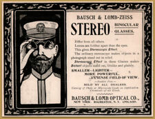 1900  Bausch Lomb co Stereo Glasses Naval Captain Deco Print Ad