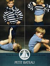 PUBLICITE ADVERTISING 045  1994   PETIT-BATEAU  sous vetements enfants 2