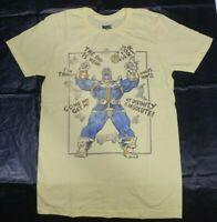 Marvel Comics Thanos Yellow Mens Black Cotton T-Shirt S M L XL
