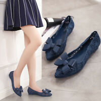 Cute Bow-note Hollow Out Womens Sandals Flats Pumps Pointy Toes Slip on Clogs