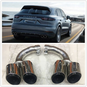 FOR 18-19 PORSCHE CAYENNE STAINLESS STEEL EXHAUST MUFFLER TAIL PIPE Pair C036-1