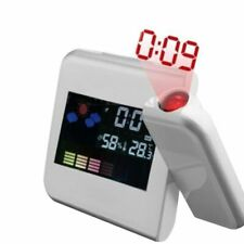 Projection Digital Alarm Snooze Clock Weather Thermometer LCD Color LED Display