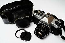 Pentax K1000 35mm SLR Film Camera CLAed new seals with SMC-M 50mm f/2 lens case