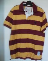 American Eagle Men's  striped short sleeve Vintage fit polo shirt Large