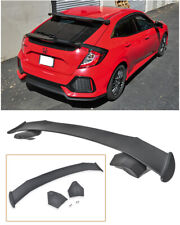 For 16-Up Honda Civic Hatchback FK4 FK7 JDM SPOON Style Rear Roof Wing Spoiler