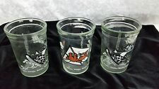 Vintage Welchs Jelly Jars Tom & Jerry Juice Glass Cups 1990 Collectable 3 PC SET