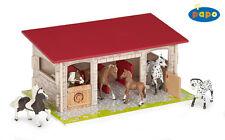 Papo 60104 Pferdebox Pferdewelt Holz Gebäude