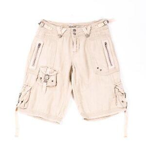 Da-Nang Khaki VTG Cotton Cargo Shorts - SZ XS