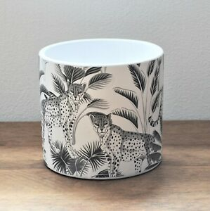 13.5cm Cheetah Animals Jungle Ceramic Indoor Plant Pot Holder Herb Cover Planter