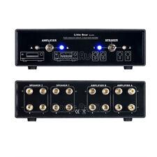 HiFi MC202 Amp Amplifier Speaker 2 ways Selector Switch Switcher Comparator Au