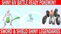 Pokemon Sword & Shield Shiny 6IV Mewtwo, Mew and Melmetal Battle Ready!!