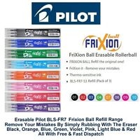Pilot Frixion Refills Erasable Pen Ink Refills 0.7mm Tip 0.35mm Line BLS-FR7