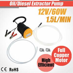 Electric 60W 12V Transfer Pump Extractor Oil Fluid Diesel Change Car Motorbike