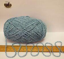 95g Sky Blue Boucle 100% Pure British Breed Wool double knitting dk yarn EFW 815