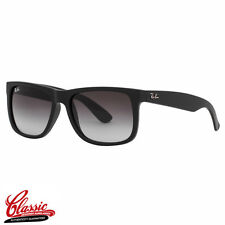 RAY-BAN JUSTIN SUNGLASSES RB4165 601/8G Rubber Black Frame 54mm BRAND NEW