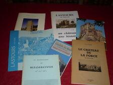 [CHATEAUX DE FRANCE] 7 FASCICULES Plaquettes Dépliants LASTOURS MONTAGU LA FORCE
