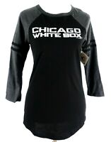 Chicago White Sox Official MLB Baseball Women's Cute Shirt New 3/4 Raglan Medium