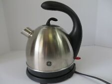 GE Stainless Steel Cordless Electric 1.7 Litre Kettle #168950 Works!  #7197