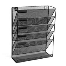 Moustache® 5 Tray Compartments Mesh Wall Mounted File Holder Home office, Black
