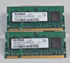 Elpida EBE11UE6ACUA-6E-E Laptop So-Dimm RAM Memory 2x1GB 2GB DDR2 PC2-5300S-555