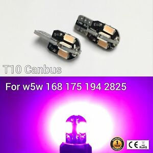 T10 194 2825 12961 License Plate Light Purple 8SMD Canbus LED M1 For Cadillac A