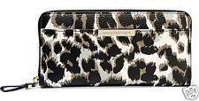 Diane Von Furstenberg Purse Wallet Zip-Around Wallet Leather Leo NEW