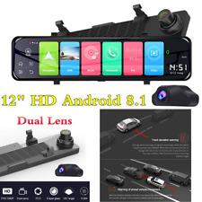 """HD 12"""" GPS 4G Coche DVR Grabadora de conducción Wifi Doble Lente Visión Nocturna Cámara Dash"""