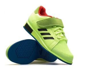 adidas Power Perfect 3 BD7157 Weightlifting Shoes CrossFit Bodybuilding - Yellow