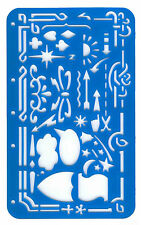 Artistic Border & Shapes Stencil Template Card Marking Craft Art QUALITY