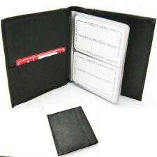 Leather Organizer Business Card Book Holder Black Compact Case Wallet Men Women