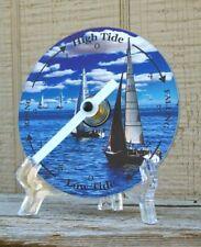 Tide Clock - Atlantic Coast High & Low Tidal Time - Sailboats - CD - Unique
