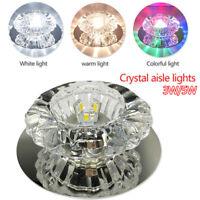 Modern Crystal 3W/5W LED Ceiling Light Fixture Pendant Lamp Lighting Chandelier