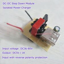 DC-DC 36V 48V 60V 72V to 5V 1A  USB Step down Buck Isolated Power Charger  Phone