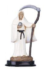 5 Inch White Santa Santisima Muerte Holy Death Grim Reaper Statue Skull Figure