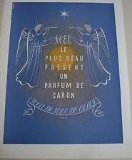 PUBLICITE de presse parfum VOEU DE NOEL de CARON  French ad