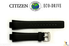 Citizen Eco-Drive E812-S043298 13mm Black Rubber Watch Band E820-S062209